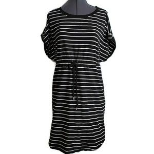 Mini Dress XXL 2x 2XL Black Stripe swim cover tie